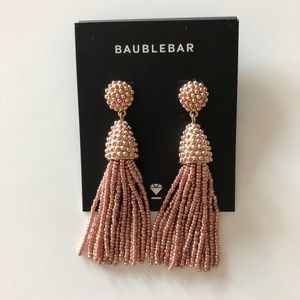 NWT BaubleBar Rose Gold Tassel Earrings